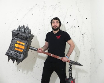 The Black Hand mace World of Warcraft cosplay prop