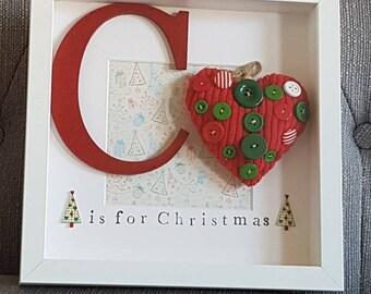 Christmas box frame, Christmas gift, Christmas gift box frame, Christmas star, secret Santa gift
