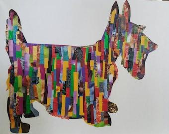 Scottish Terrier Decoupage Wall Art