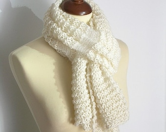 White and Opalescent Scarf