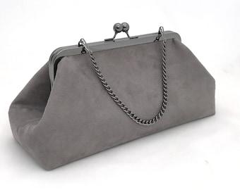 Gorgeous Grey Suede Handbag ~ Ready to Ship