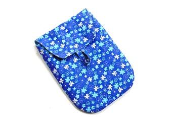 Diaper case, blue, baby shower gift, diaper travel bag, diaper pouch, nappy bag