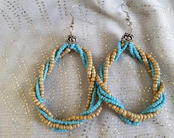 Calypso Blue Chandelier Earrings