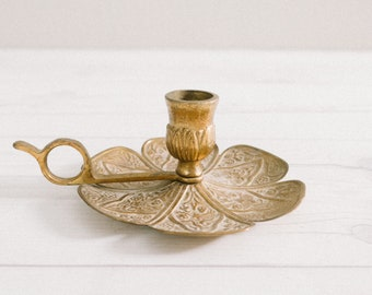 Vintage Finger Loop Candle Holder