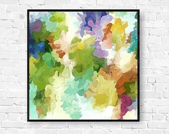 Abstract Watercolor, Abstract Art Print, Watercolor Painting, Pastel Wall Art, Watercolor Art Print, Abstract Wall Art, Green, Purple