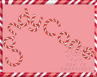 CandyCane. ESA fonts for Wilcom ES