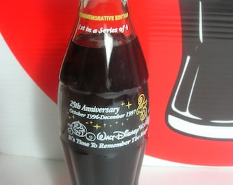 """Coca Cola """"It's time to Remember the Magic"""" Walt Disney World Commemorative Bottle 25th Anniversary / The 1st out of a 4 series set"""