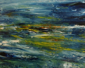 """Abstract Landscape - 'Something as simple as this' - oil painting on canvas - size 90cm x 90cm (36""""x36"""")"""