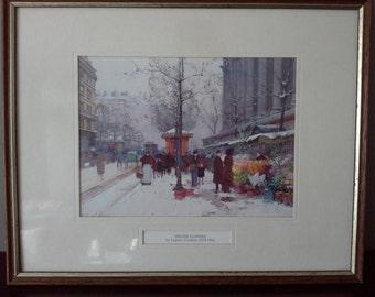 framed winter flowers print by Eugene G-Laloe
