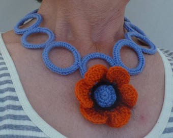 Poppy orange crochet