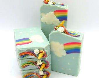 Unicorns and Rainbows - unicorn soap/rainbow soap/artisan soap/hand made soap/luxury soap/natural soap/handcrafted artisan soap/girl soap