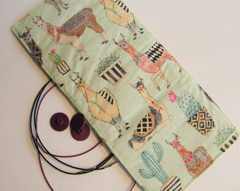 Interchangeable Needle Cable Organiser- Alpaca  fabric