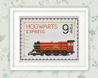 BOGO FREE!Hogwarts Express cross stitch pattern,counted cross stitch ,Harry Potter Hogwarts, Platform 9 3/4PDF,Instant Download, S033
