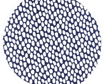 Round Beach Pool Towel with Fringe Dots