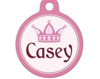 Personalized Pet ID Tag - Casey Custom Name Pet Tag, Dog Tag, Cat Tag, Luggage Tag, Child ID Tag