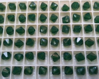 8 MM Palace Green Opal Swarovski Bicone 16 Cuts 6/12/24/36/72/144/288 Pieces (393)