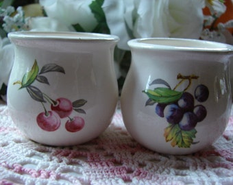 Cherries and Purple Grapes Votive Cup Holders