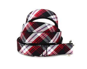 Black And Red Plaid Dog Leash, Preppy Dog Leash, Plaid Dog Leash, Tartan Dog Leash, Black Plaid Leash, Red Plaid Dog Leash, Tartan Dog Leash