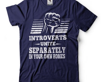 Introverts Unite Funny T-shirts Meme Tee Shirts Funny Introvert T-shirt