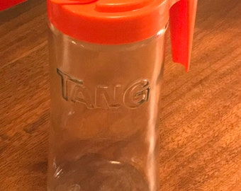 Vintage 1960s TANG Retro Glass Pitcher ANCHOR HOCKING Mint Condition!