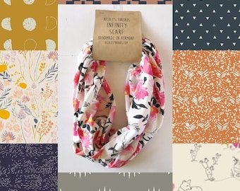 Infinity Scarf - Organic Cotton Jersey - Choose from a variety of fabrics