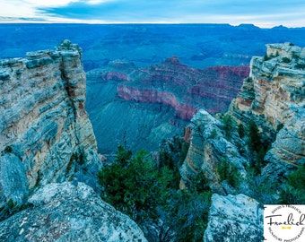 """Magnificent Grand Canyon """"South Rim Crevasse"""" Fine Art Photograph (9.5"""" x 13.25"""" print on 14"""" x 18"""" archival board) Limited Edition Signed"""