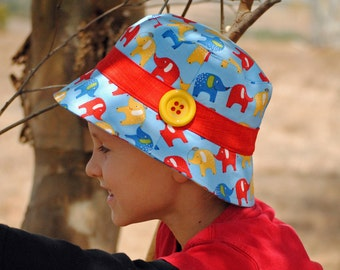 """Bucket Hat Pattern PDF Sewing Pattern Boys and Girls Hat Pattern """"Scout"""" Sizes X Small to X Large, Instant Download Digital Pattern"""
