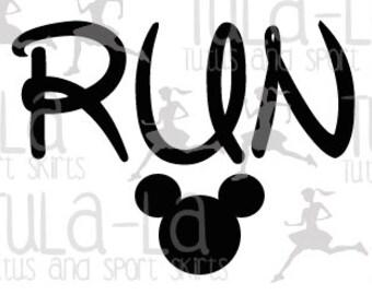 Disney Run Iron-on Transfer