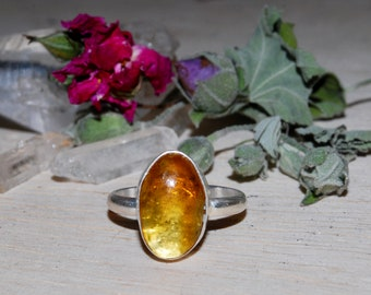 Size 7 Baltic Amber Ring