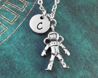 Astronaut Necklace Astronaut Jewelry Personalized Necklace Spaceman Necklace Outer Space Jewelry Astronaut Gift Space Gift Astronaut Charm