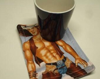 Hot Hunk Hot Pads Cup Carpet Mug Rug