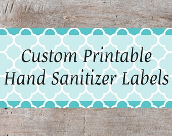 Personalized Hand Sanitizer Label, Custom Hand Sanitizer Label, Water Bottle Label Template, Hand Sanitizer Label, Party Printable
