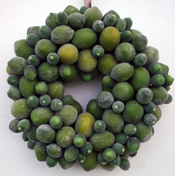 Fruit Wreath, Sugared Lime Fruit Wreath