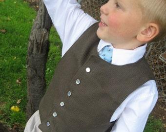Boys Vest PDF Sewing Pattern