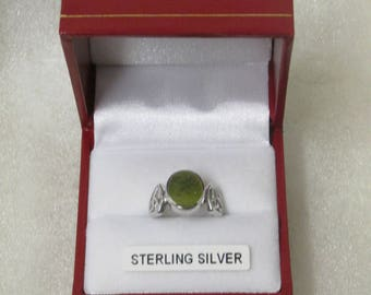 Connemara Marble Celtic Silver Ring