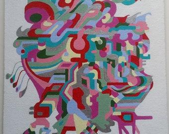 Original acrylic painting on 11 inch x 14 inch canvas board