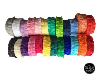 Single-Layer Ruffled Crepe Paper Streamers/Garland- many colors available-MADE TO ORDER