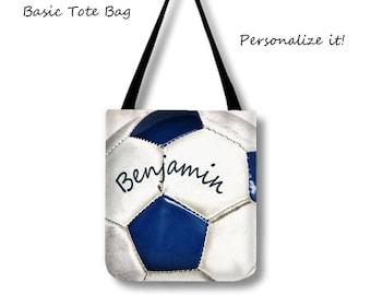 Soccer Tote Bag-Soccer Overnight Bag-Custom Sports Bag-Adjustable Tote Bag-Shoulder Tote Bag-Weekender Bag-Sports Tote-Personalized Bag