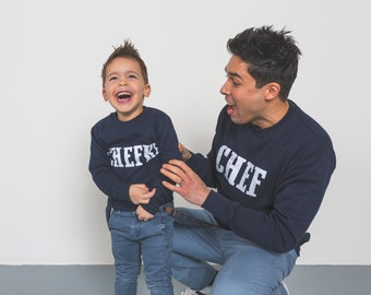 Father + Son Sweaterset, chef + Chefke