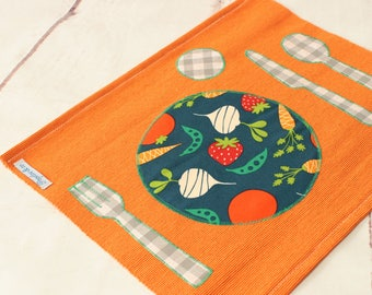 Montessori Placemat, Christmas gifts baby, Kids Placemat,Toddler Fabric Place mats, Homeschool,Montessori Practical Life, Place Setting