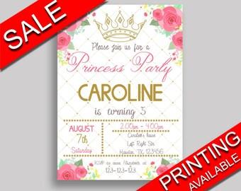 Princess Birthday Invitation Princess Birthday Party Invitation Princess Birthday Party Princess Invitation Girl little princess 8HDMG