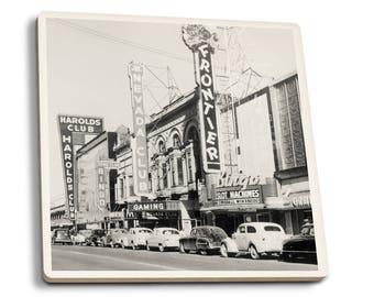 Reno NV - Gaming Clubs - Vintage Photo (Set of 4 Ceramic Coasters)