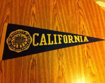 University of California Vintage Felt Pennant
