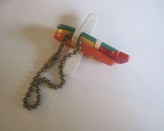 Vintage Jet Puzzle Key Chain 1148