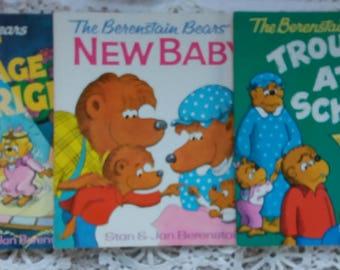 Three Vintage Berenstain Bears Books