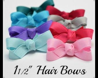 Mini Hair Bows, Baby Girl Hair Bows, Newborn Hair Bows, Infant Hair Bows, Baby Hair Bows, Baby Bows, Baby Hair Clips, Infant Hair Clips, Bow