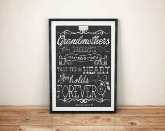 Family (X) - Grandmothers Create Memories That The Heart Holds Forever - (Digital Download, Instant Download, Printable)