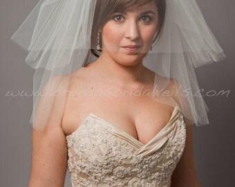 Bridal Veil - Short Veil- Double Layer Wedding veil - Latisha