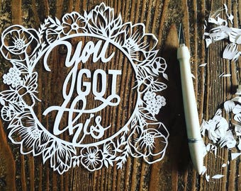 You got this papercut template for download, personal use