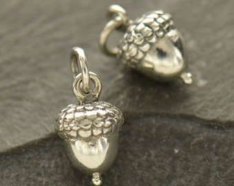 Sterling Silver Acorn Charm